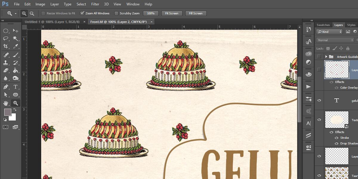 نحوه ساخت ماکت کیک آموزش ساخت کیک با فتوشاپ | نحوه طراحی کیک با Photoshop