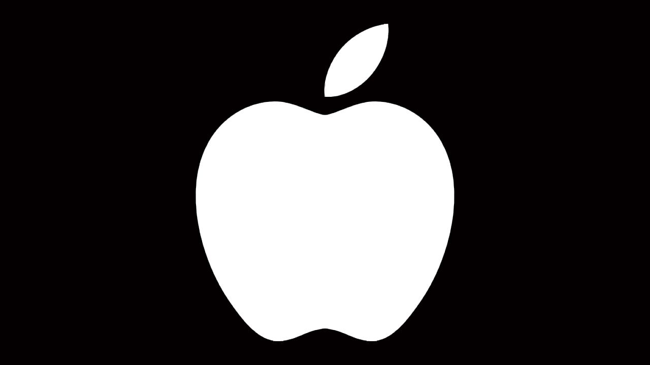 apple logo whithout bite