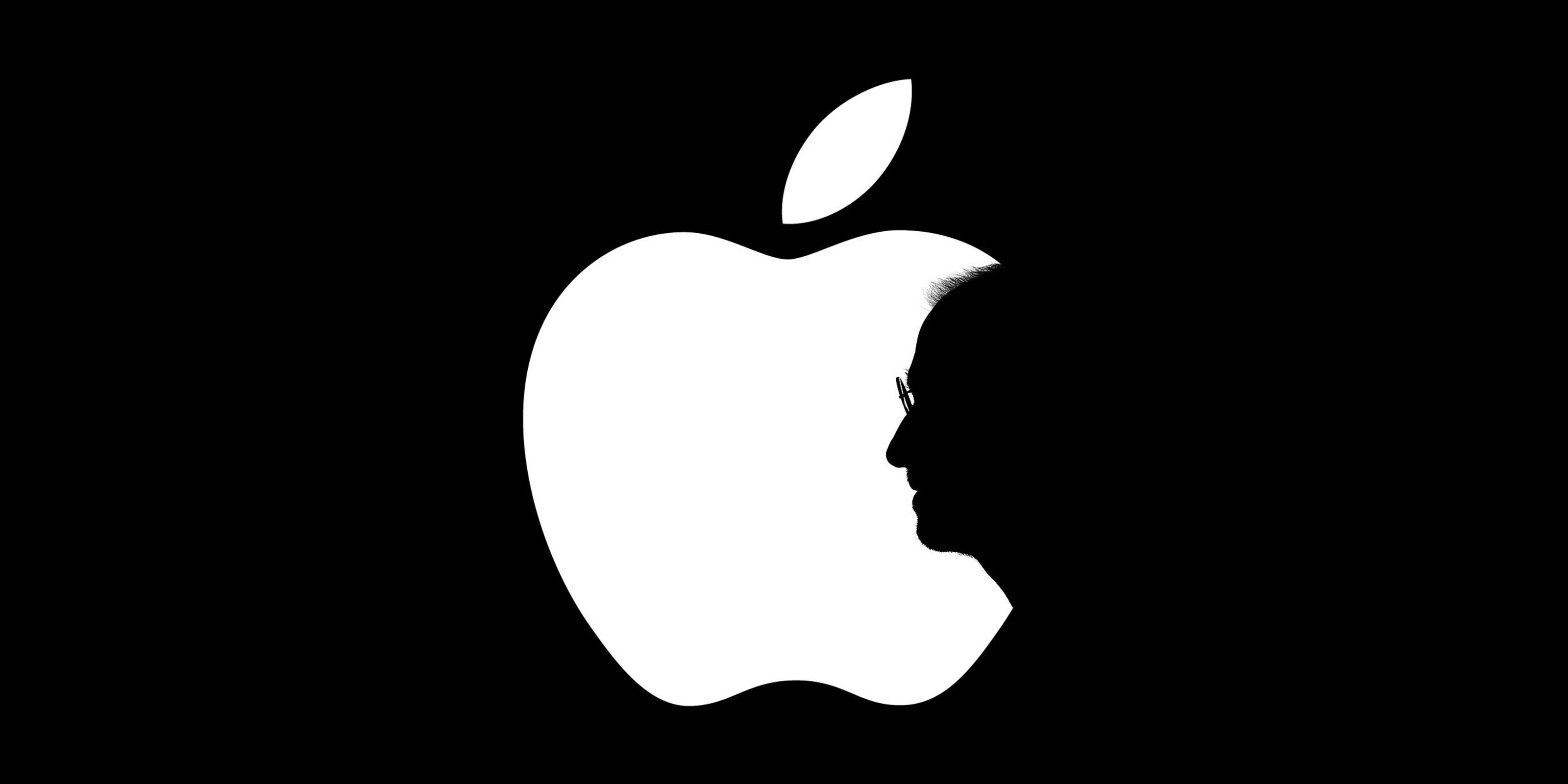 استیو جابز و لوگو اپل